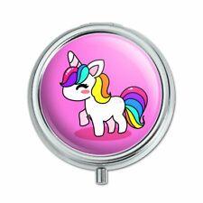 Cute Kawaii Rainbow Unicorn Chibi Pill Case Trinket Gift Box