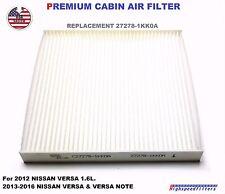 27278-1KK0A Replacement Cabin Air Filter for 2012 - 16 NISSAN VERSA & VERSA NOTE