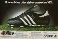 Classic Adidas Icon World Cup 1982 Football Boots POSTER PRINT ADVERT ONLY A3