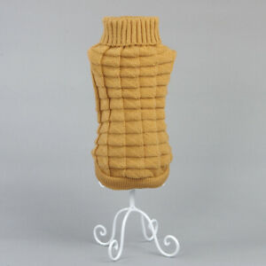 #QZO Turtleneck Puppy Dog Sweater Winter Warm Chihuahua Coat Knitted Clothing