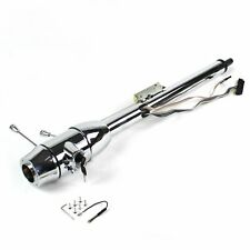 "32"" Chrome Keyed Steering Column Floor Shift with 6 Hole Wheel Adapter"