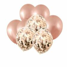 Metallic Rose Gold Confetti Balloon Bouquet-Weddings-B'Day Parties-Baby Showers