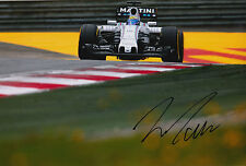 Felipe Massa mano firmato 12x8 FOTO Williams Martini F1 14.