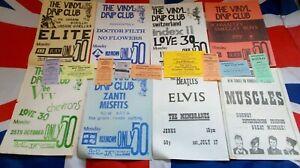 Vintage Original Job Lot Music Posters/Flyers & Ticket Stubs 1980's Circa