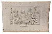 The Iilad Homer Engraving John Flaxman 1805 Minerva Repressing Fury Achilles