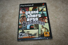 PS2 Grand Theft Auto San Andreas Black Label Playstation 2 - Brand New - R917-B