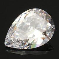 13x18MM Beautiful White Sapphire Pear Cut Lustrous Loose Gemstone Stone Gem