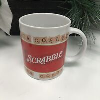 Hasbro Scrabble Game Coffee Tea Cocoa Mug Cup