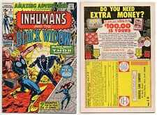 Amazing Adventures #8 Neal Adams Cover! Inhumans & Black Widow! Avengers! Thor!