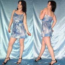 Batik blaues STIEFELKLEID* Minikleid* S 36/38 * Stretchkleid weich* Partykleid