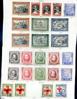 CHILE 25 STAMPS LOT ON ALBUM SHEET, VF