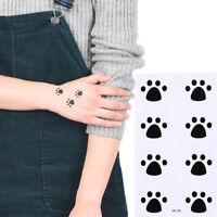 Cat Footprints Temporary Tattoos Body Arm Leg Waterproof Tattoo Stickers M&C