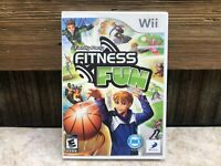 Family Party: Fitness Fun (Nintendo Wii, 2010)COMPLETE Tested FREE SHIPPING