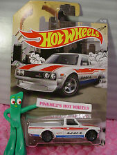 htf 2016 Hot Wheels #4 DATSUN 620☆White;Red/Blue☆RAD Truck Walmart Exclusive