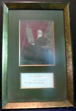 "Samuel F B Morse Inscribed Cut 2 1/4"" x 5"" Matted & Framed Inventor-Painter Coa"