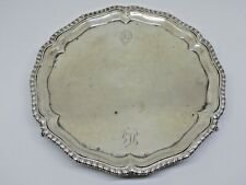 More details for 1759 george ii english silver 3 ball & claw footed tray. georgian . makers ic.