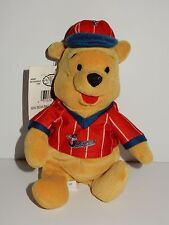 "Disney Store Mini Bean Bag 8"" Baseball Pooh Plush w/Tags"