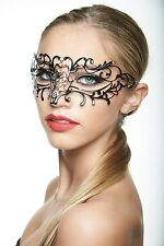 Elegant Black Venetian Laser Cut Masquerade Mask BD004BK Mardi Gras Prom