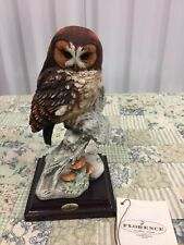 "Giuseppe Armani Figurine ""TAWNY OWL"" #0989C  *Excellent Store Display*  (B)"