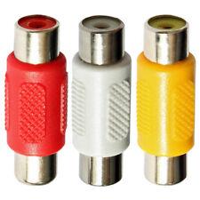 Single RCA Phono Female Socket Coupler Joiner Adaptor - Red White Yellow