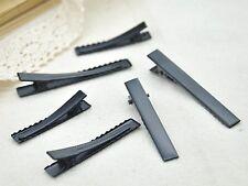 Matt Black Metal Pinch Alligator Hair Clips with Teeth Bows 40mm 46mm 56mm 66mm