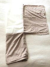 "Euc Taupe Tan Twin Bed Skirt Dust Ruffle14"" Drop"