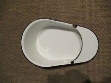 Antique White Enamel Porcelain Hospital Bedpan Chamber Pot