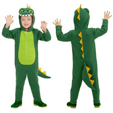 KINDER DRACHEN KOSTÜM # Karneval Monster Krokodil Echse Jungen Mädchen 116 0519
