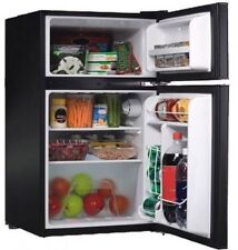 Compact Refrigerator Fridge Freezer Mini 3.2cu.ft. 2-Door Reversible Dorm Office