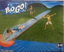 BESTWAY Bambini Kids 5.5 M H2O vai SINGOLO dispositivo di scorrimento Scivolo Arancione & Blu 52207