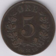 More details for 1875 norway 5 ore coin   european coins   pennies2pounds