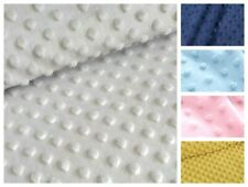 MINKI fabric supersoft fleece dots spots dimple sold by metre