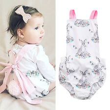 AU Stock Newborn Infant Baby Girl Bunny Bodysuit Romper Jumpsuit Outfits Clothes