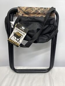 Mossy Oak Field Hunting Folding Seat W/ Storage Bag & Carry Strap