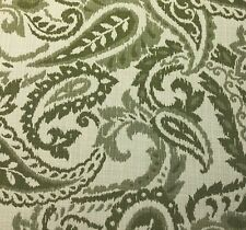 OUTDURA INDOOR OUTDOOR PAISLEY  UPHOLSTERY FABRIC JULIET - PALM BY THE YARD