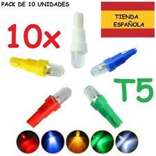 10x Bombilla T5 Led Coche Moto luz Tablero Marcador Cuadro Salpicadero Tacometro