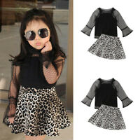 Fashion Toddler Kids Baby Girl Top Shirt Skirts Dress Outfits Child Clothes