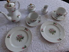 9 pezzi Servizio da caffè Seltmann Weiden Annabell 8 ROSA ROSE BORDO ORO
