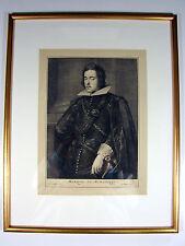 Gravure XVII° MARQUIS DE MIRABESSE signé Abraham Blooteling, cadre bois doré