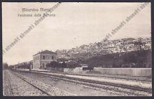 BARI MINERVINO MURGE 04 INTERNO STAZIONE - FERROVIA Cartolina viagg 1912 DIFETTI