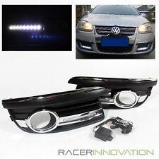 For 2006-2010 VW Jetta Fog Driving Lamps Cover w/ LED DRL Daytime Running Lights
