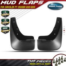 2x Rear LH & RH Mudguards Splash Guards Mud Flaps for Chrysler PT Cruiser 01-10