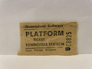 Queensland Railways QR Platform Ticket Townsville Station