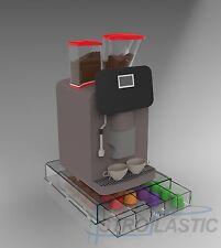 Contenitore cassetto porta capsule caffè 5 scomparti in plexiglass TRASPARENTE