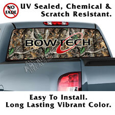 Bowtech Oak Camo Back Window Graphic Perforated Window Film Decal