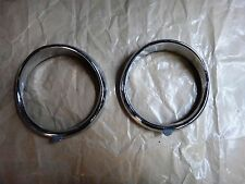 Renault Dauphine Rim HeadLight Pair - Lunette - ABTP521A