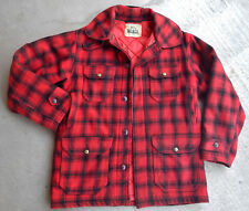 VTG WOOLRICH BUFFALO PLAID MENS  MACKINAW  HUNTING JACKET QUILTED LINING 38