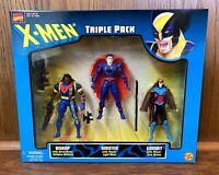 X-Men Triple Pack Figures Set Vintage 1999 Toybiz Bishop Mr Sinister Gambit 90s
