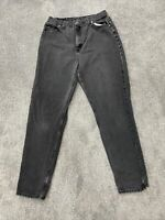 Vintage Riders Black Denim Jeans Mens 32x33 Regular Straight USA Made Faded