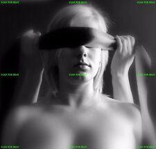 SEMI NUDE female woman model blindfold photo FINE ART PHOTOGRAPH bdsm